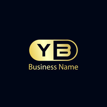 Initial Letter YB Logo Template Design