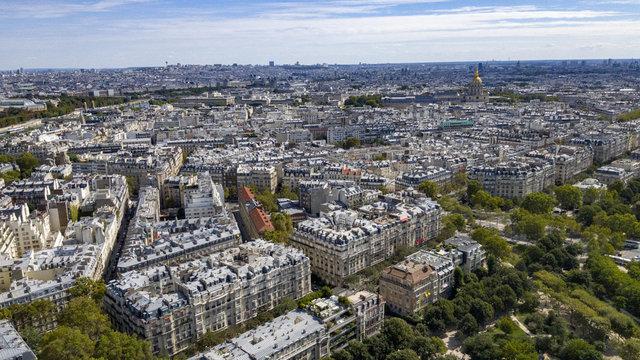 Toits de Paris vus depuis la Tour-Eiffel