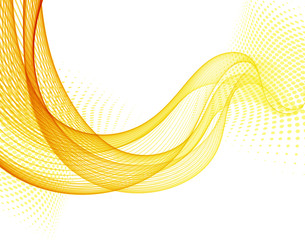 Abstract vector background with orange smooth color wave