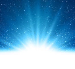 Vector Abstract shiny magic blue light background