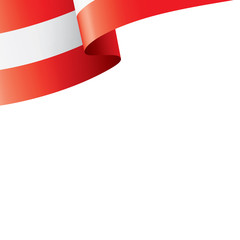 Austria flag, vector illustration on a white background