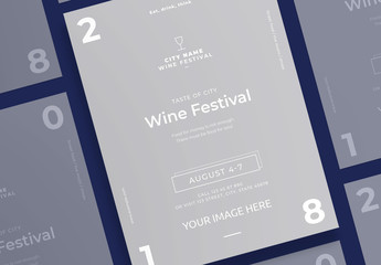 Poster Layout with Wine Glass Icon