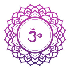 Crown Chakra Vector Illustration