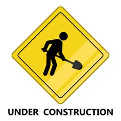 Under construction transit signal. Vector illustration design