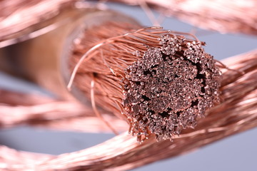 Close-up of copper wire