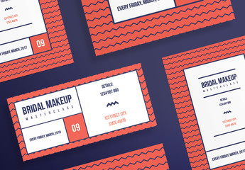 Flyer Layout with Geometric Patterns