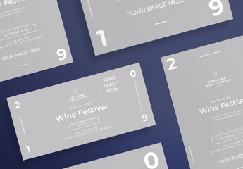Flyer Layout with Wine Glass Icon