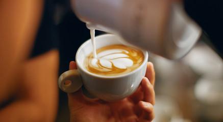 Decoration on cappuccino