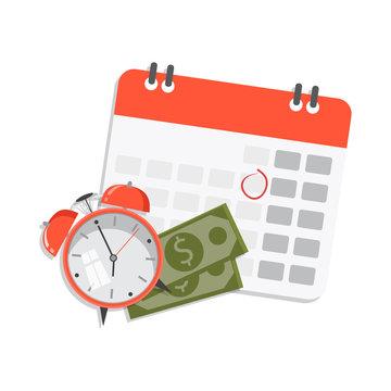 Vector illustration design. Financial calendar and planning concept.