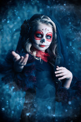 portrait of girl at halloween