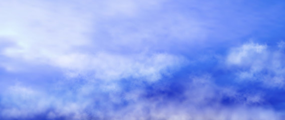 design of blue cloudy sky vector illustration