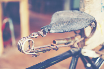 old bicycle, vintage filter image