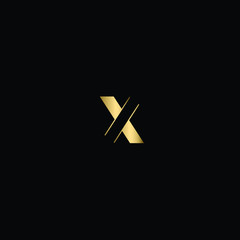 Abstract Minimal Letter X Logo Design