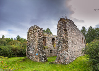 Rait Castle - 13th century ruined castle near Inverness, Scotland
