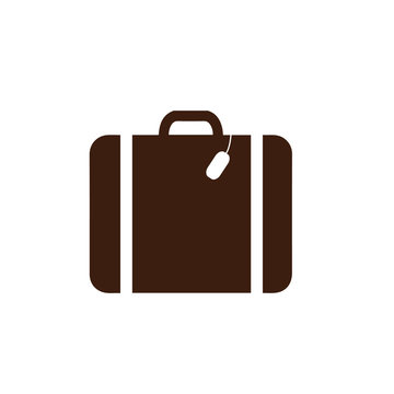 suitcase icon. vector illustration