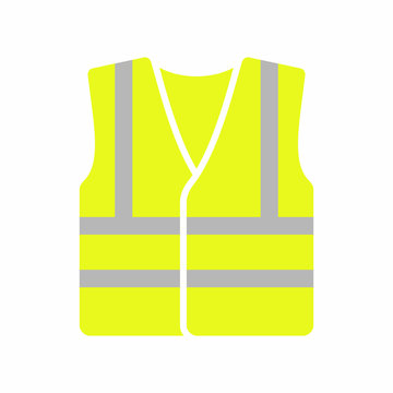 High visibility vest icon