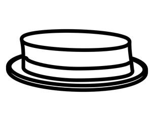 elegant low hat male
