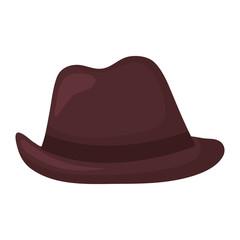 elegant male fedora hat icon
