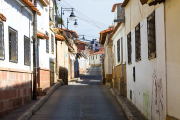 Street view from Sucre, Bolivia