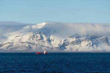 Photo sur Aluminium Antarctique shipping in the artic