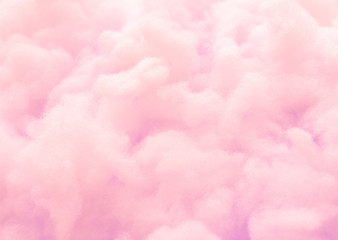 Poster Roses Colorful pink fluffy cotton candy background, soft color sweet candyfloss, abstract blurred dessert texture