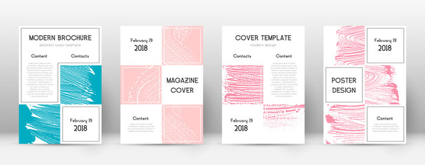 Cover page design template. Business brochure layout. Bewitching trendy abstract cover page. Pink an