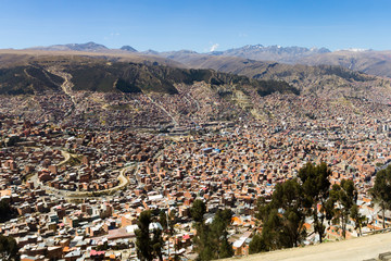 La Paz view from El Alto,Bolivia