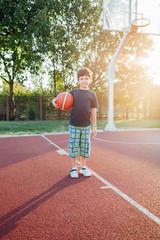 Cute little basketball player