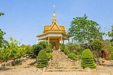 One of the shrines in the Vipassana Dhura Buddhist Meditation Center in Cambodia