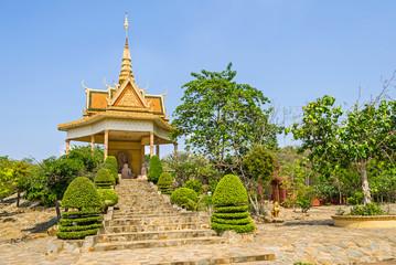 One of the shrines in the Vipassana Dhura Buddhist Meditation Center in Cambodia