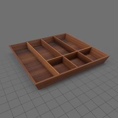 Wood cutlery tray