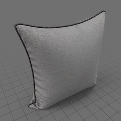 Upright piped edge pillow 2