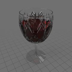 Antique glass goblet