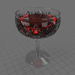 Antique coupe glass