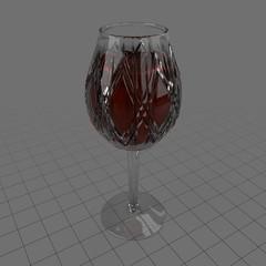 Antique wine glass
