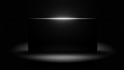 black monolith 3d illustration with copy space Wall mural
