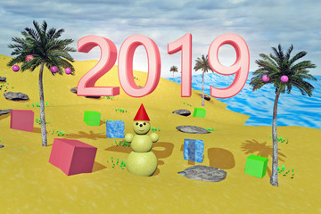 Новый год 2019 под пальмами.