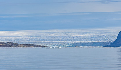 Foto op Canvas Poolcirkel The Greenland Icefield Viewed from the Coast
