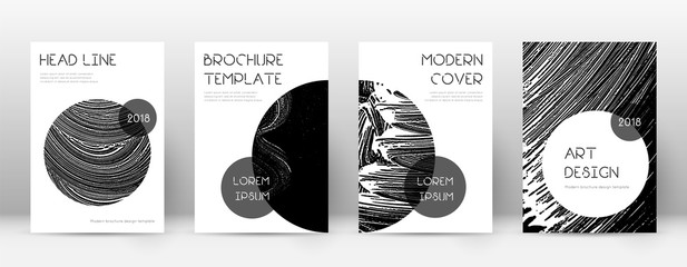 Cover page design template. Trendy brochure layout. Classic trendy abstract cover page. Black grunge