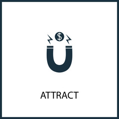 attract icon for web and mobile