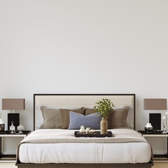 Interior Bedroom Wall Gallery Mockup