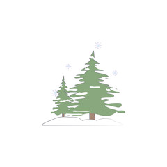Pine tree snow winter colored icon. Element of colored winter hand drawn icon for mobile concept and web apps. Detailed Pine tree snow winter icon can be used for web and mobile