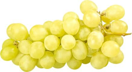 White Grape Cluster - Isolated Fototapete