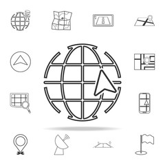 global cursor icon. navigation icons universal set for web and mobile