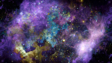 Image of the nebula in deep space. Elements of this image furnished by NASA.