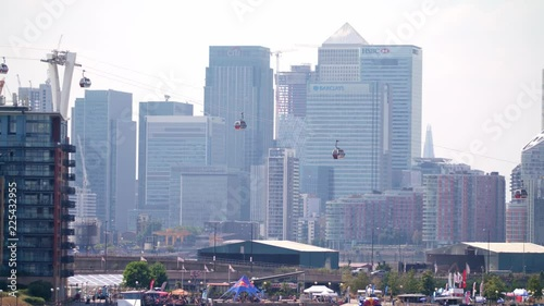 4K slow motion footage from Dockland, London right next to Excel