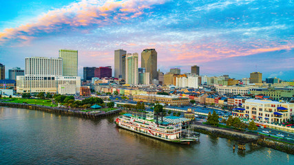 New Orleans, Louisiana, USA Downtown Skyline Aerial Fotomurales
