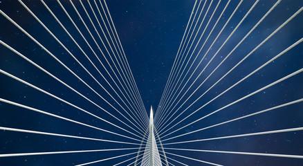 Beautiful bridge and night sky .