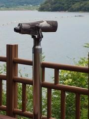 한국 청주시티 대청호수 쌍안경