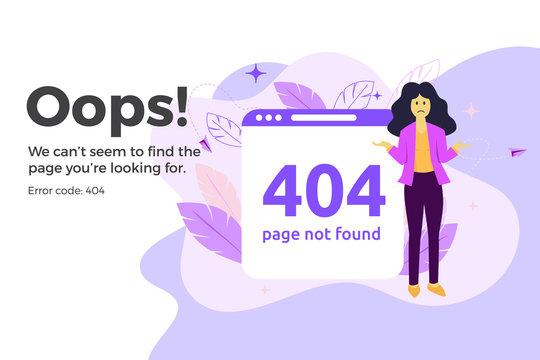 Error 404 unavailable web page. File not found concept